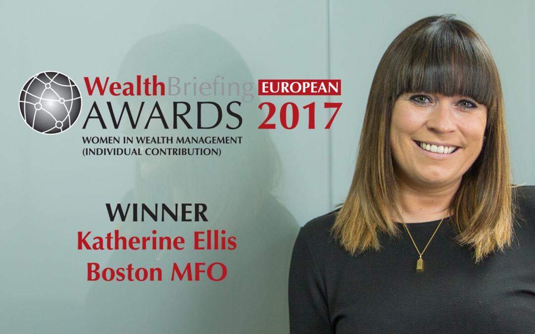 Katherine Ellis wins 'Women in Wealth Management' Award